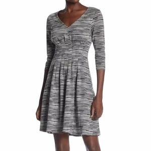 London Times Plus Size Dress   3/4 Length Sleeves